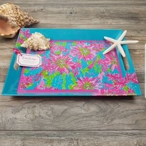 Lilly Pulitzer Melamine serving tray NWT sippin